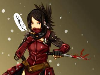 Tenchu - armor ayame blade by buuzen