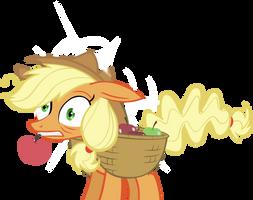 Applejack hit her head by FabulousPony