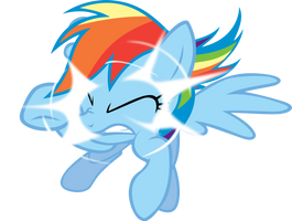 Rainbow Dash out of nowhere by FabulousPony