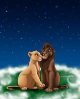 Kiara and Kovu by Mareishon