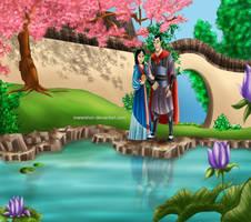 .Mulan and Shang. by Mareishon