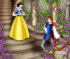 Snow White and Prince Charming by Mareishon