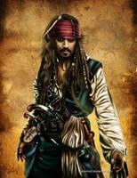 Captain Jack Sparrow by Mareishon