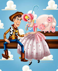 Woody and Bo Peep by Mareishon