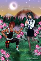 Melfina and Gene by Mareishon