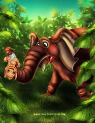 Tarzan and Kala II by Mareishon
