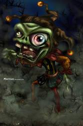 Spooky Jester by Mareishon