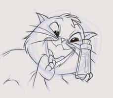 Yzma Kitty by fudgemallow