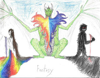 Fantasy- The Dark, The Colorful, and a Dragon by Sabehlra