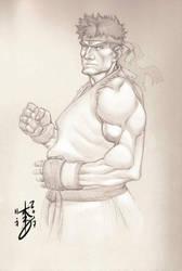 Ryu Sketch 11-07-2017 by arcais