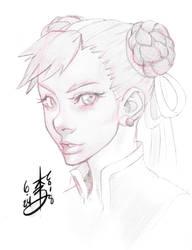 Chun Li Sketch by arcais