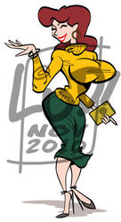 Sweater Girl clip art by LudHughes