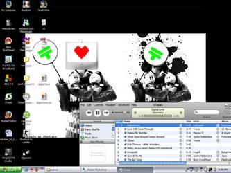 digital love desktop by loverubber