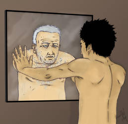 the old man in the mirror by Vergyl