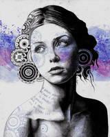 Ayil (vintage lady portrait, mandala doodles) by KissMyArt-Artcore