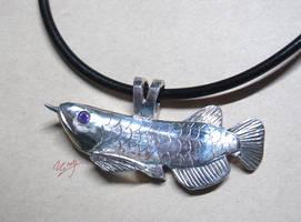 Asian Arowana pendant by NagiSpider