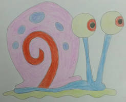 Drawing of Gary the Snail by jcpag2010