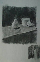 Charcoal class sketch by LeoReeseo