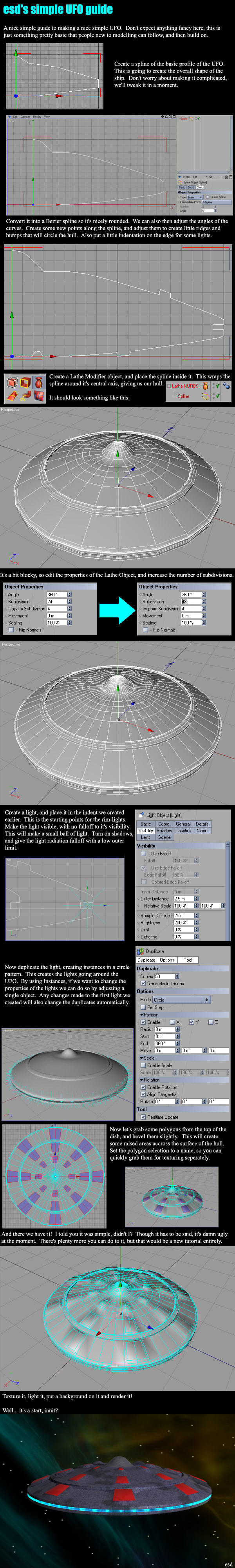 Simple UFO Tutorial by e-s-d