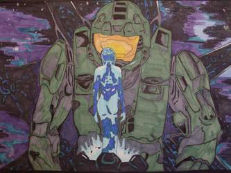 Master Chief x Cortana by Dahrk