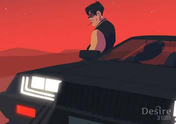Regis and his car by Machina-Su