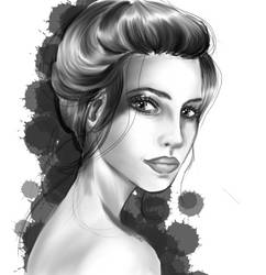 Black and White Updo by CatChalks