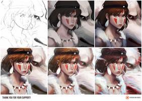 Mononoke Process by GUWEIZ