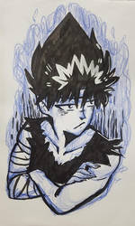 Sketch - Hiei by WhiteManju