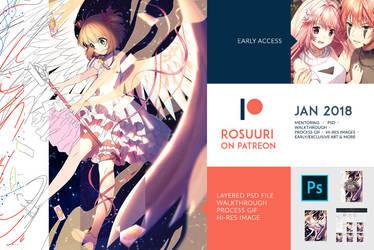 January 2018 Patreon Rewards by Rosuuri