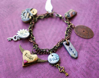 The Infernal Devices Charm Bracelet by colourful-blossom