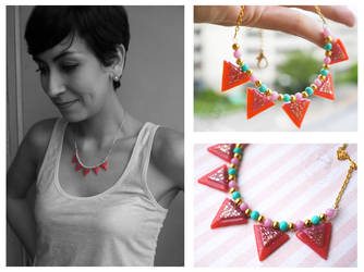 Elegant Candy Necklace by colourful-blossom