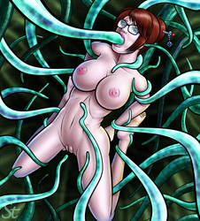 Mei and the tentacles by Bound-to-please