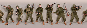 Military - uniform US soldiers WW2 olivedrab by MazUsKarL