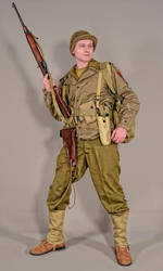 Military - uniform US soldiers WW2 02 by MazUsKarL