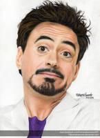 Robert Downey Jr. - Colour Pencils by FabianaAzevedo