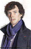 Sherlock (Benedict Cumberbatch) - Colored Pencils by FabianaAzevedo