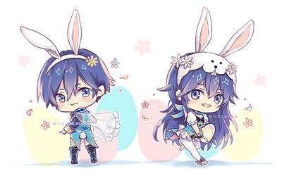 FE Heroes: Easter bunnies by Toxicmilkk