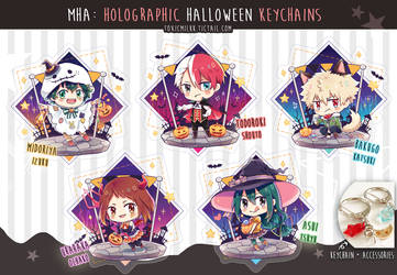 My Hero Academia Holographic Halloween Charms by Toxicmilkk