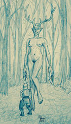 An Ogress (uncolored) by TomBerck