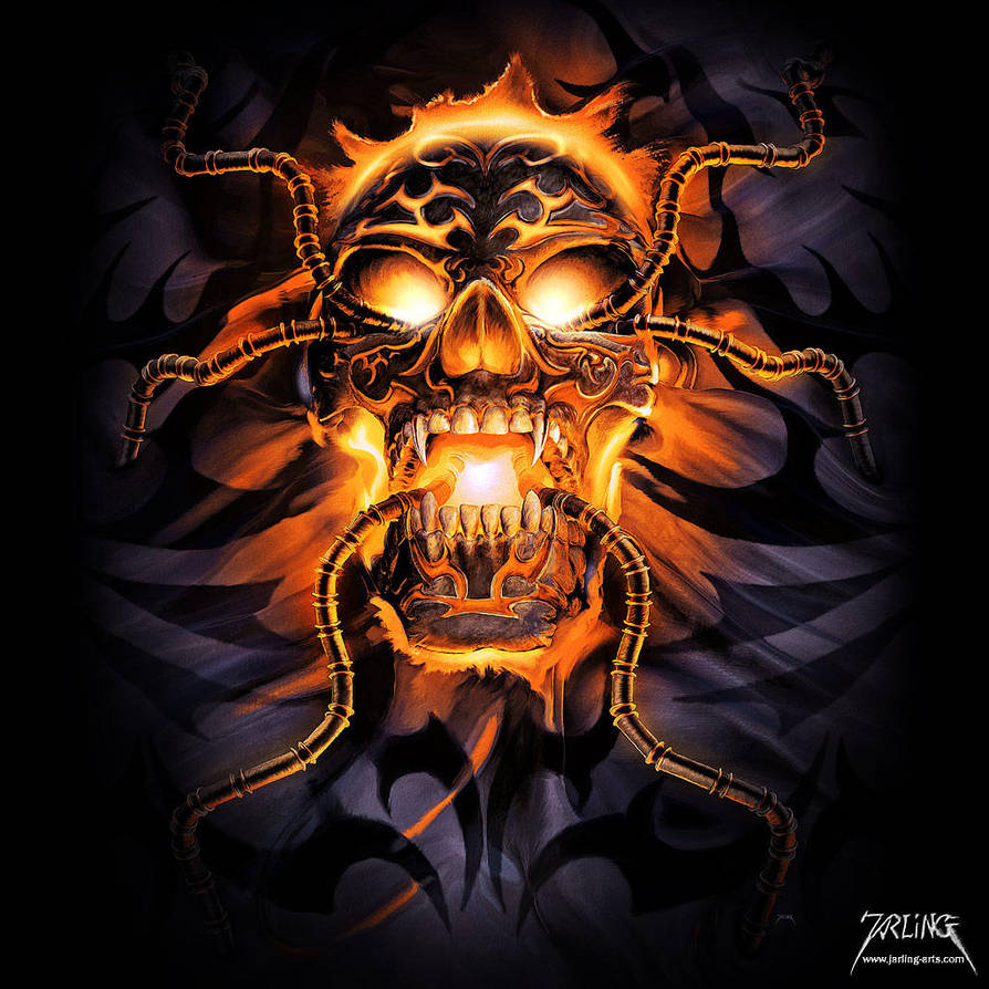 Glowing Skull by jarling-art