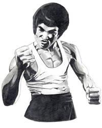 Bruce Lee by severedflesh