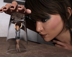 Under a glass by SWRiddick