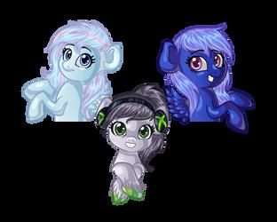3 Lil' Ponies by Momoe-mi