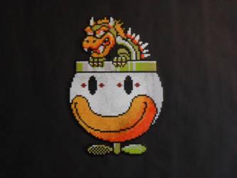 Bowser in Koopa Clown Car by mecharichter