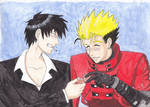 Vash and Wolfwood by OokamiSoul42