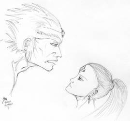 Ganondorf and Nabooru by NicodemusLily