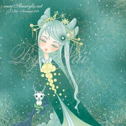 Kokeshi capricorn by Nailyce