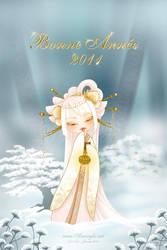 Winter Kokeshi Happy New Year by Nailyce