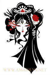 Geisha B-W by Nailyce
