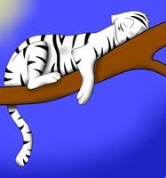 Tiger Napping by jayemjee